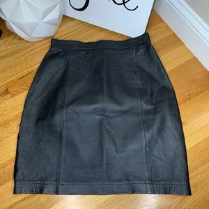Vintage Wilsons Black Leather Skirt